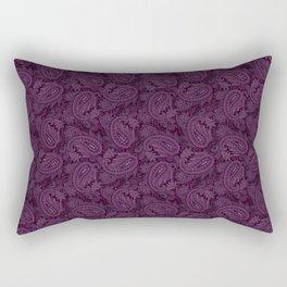 Meredith Paisley - Purple Rectangular Pillow