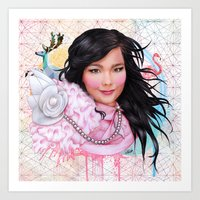 bjork Art Prints featuring Bjork by Will Costa