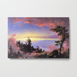 New England - Above the Clouds at Sunrise by Frederic Irwin Church Metal Print