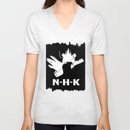 Welcome To The NHK Unisex V-Neck