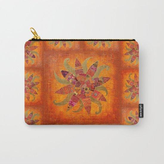 Sol Fantastico original collage art gold orange Carry-All Pouch
