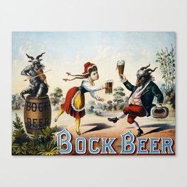 Vintage poster - Bock Beer Canvas Print