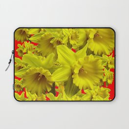 YELLOW SPRING DAFFODILS ON CHINESE RED ART Laptop Sleeve