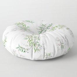 Jasmine Flower Illustration Floor Pillow