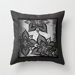 Floral Fantasy Throw Pillow