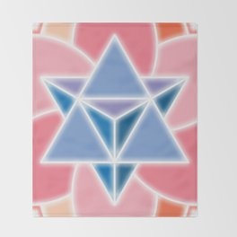 Tetra-Blossom Throw Blanket