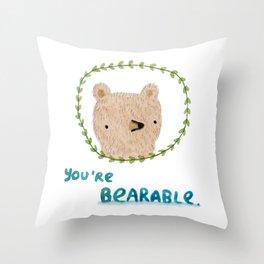 Bearable Bear Throw Pillow