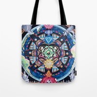 chakra Tote Bags featuring Earth Chakra by The Art of Eric Carson