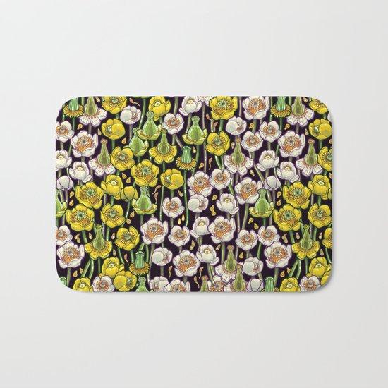 waterlily pattern Bath Mat