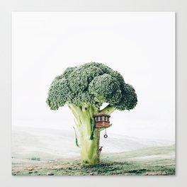 Broccoli House Canvas Print