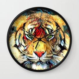 Fantazi (Tiger is Not Amused II) Wall Clock