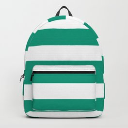 Paolo Veronese green - solid color - white stripes pattern Backpack
