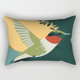Ruby-Throated Hummingbird Rectangular Pillow