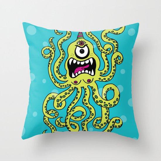 Monster Week, Day 2 Throw Pillow