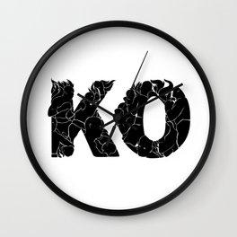knock out KO Wall Clock