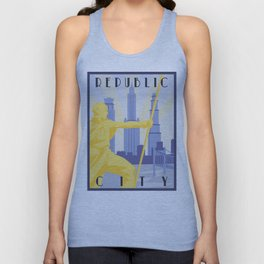Republic City Travel Poster Unisex Tank Top