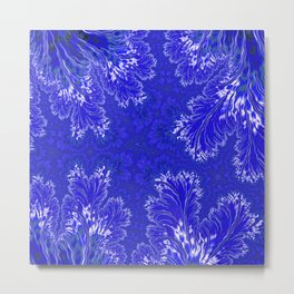 BluFan Filigree Metal Print