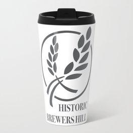Brewers Hill Sign Black Travel Mug