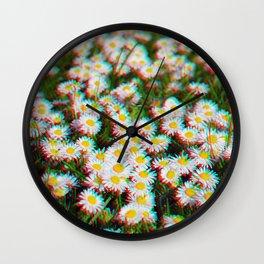 Digital Daisies Wall Clock