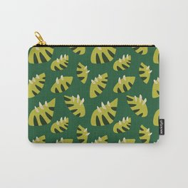 Pretty Clawed Green Leaf Pattern Carry-All Pouch