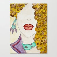 sassy Canvas Prints featuring Sassy by Shanii Renay