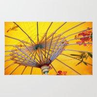 asia Area & Throw Rugs featuring Asia Umbrella by Claudia Otte ArtOfPictures