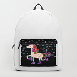Shiny Xmas Unicorn in the Snow Backpack