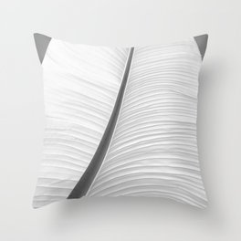 Monochrome photo of an object Throw Pillow