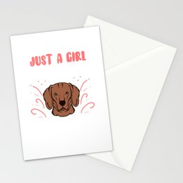 Just A Girl Who Loves Vizslas Vizsla Dog Gift Stationery Cards