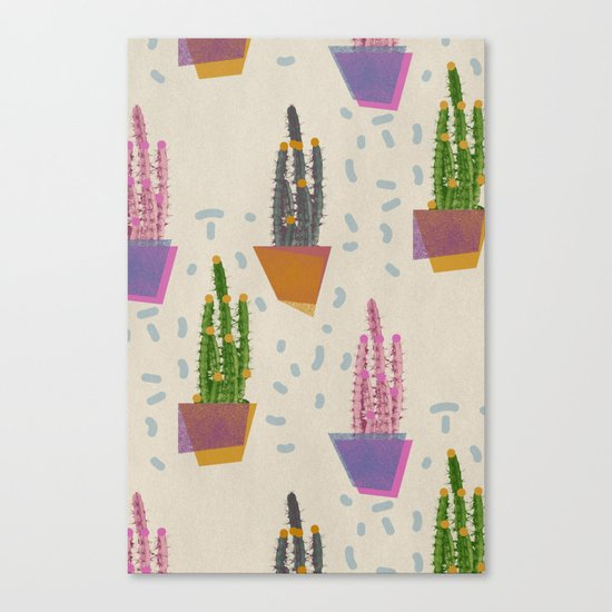 Cacti in the pot Canvas Print