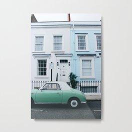 Notting Hill Door Fronts Metal Print
