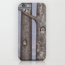 owls in trees iPhone Case