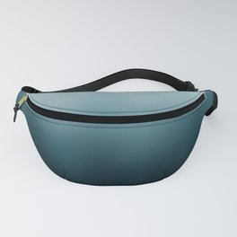 Ombre black Teal Green Gradient Fanny Pack