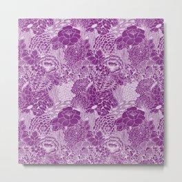 Purple Petals Metal Print