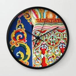 Tibetan Buddhist Monastery Architectural Details Wall Clock