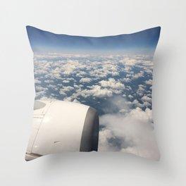 Plane view Throw Pillow