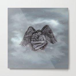 Eros , Amor - Angel and Woman in Love Metal Print