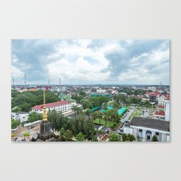 View of the City from Patuxai I, Vientiane, Laos Canvas Print