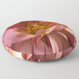Peachy Swirls Floor Pillow