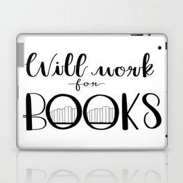 Will Work for Books Laptop & iPad Skin