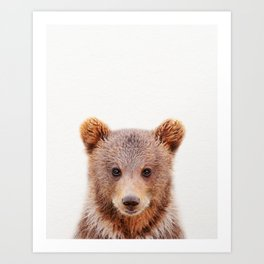 Baby Bear, Baby Animals Art Print By Synplus Art Print