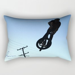 Biking High Rectangular Pillow