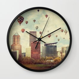 Portland Oregon Whimsy Wall Clock
