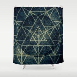 Tetrahedron Ignis Dark Shower Curtain