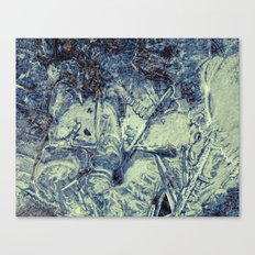 ice abstract Canvas Print