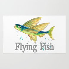 F is for Flying Fish Rug