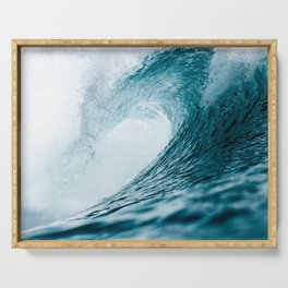 Big Crashing Wave Photograph Serving Tray