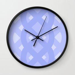 Celtic Knot Lattice in Lavender Wall Clock