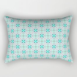 Teal Diamonds Rectangular Pillow