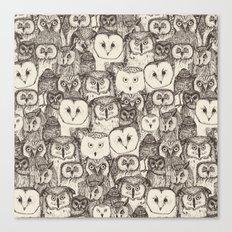 just owls natural Canvas Print